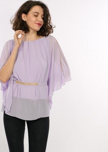 Bluza de seara eleganta cu strasuri, de dama