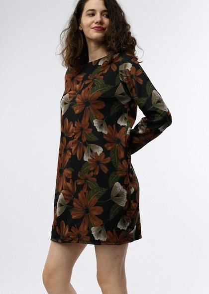 Rochie cu imprimeu floral elegant