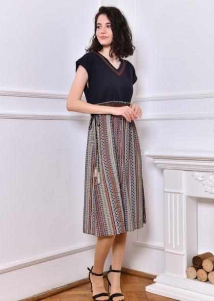 Rochie Newt cu imprimeu deosebit, multicolor