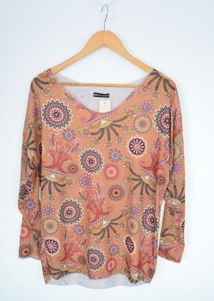 Bluza dama cu imprimeu abstract cercuri