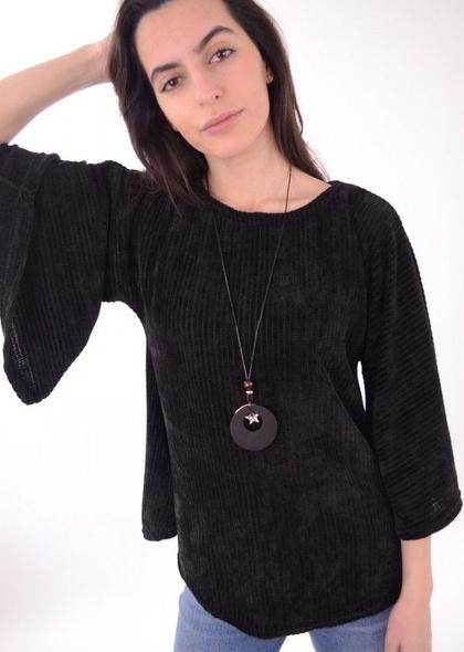 Bluza pulover de dama, din catifea