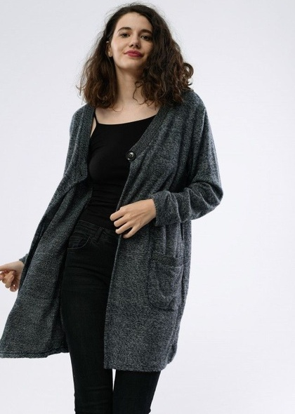 Jacheta dama, cu buzunare