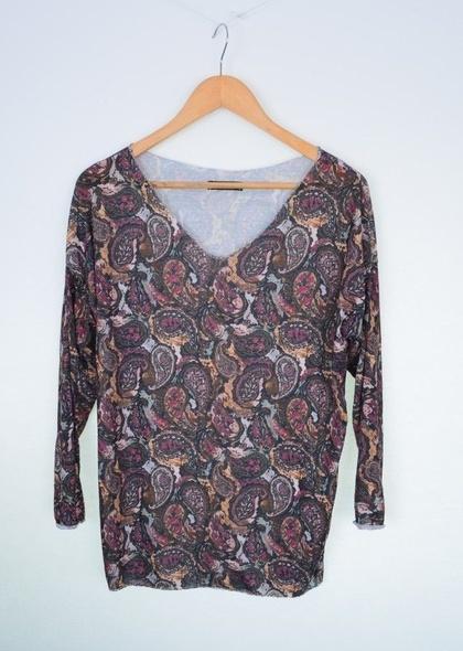Bluza dama cu imprimeu abstract paisley
