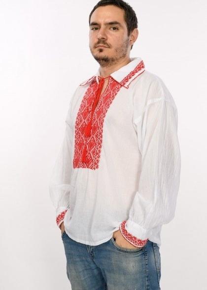 Bluza de barbati traditionala, cu broderie cusuta
