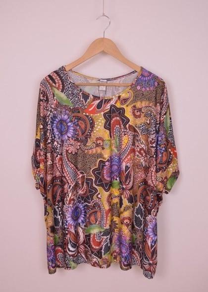 Bluza de dama, marime unica, cu imprimeu vesel colorat