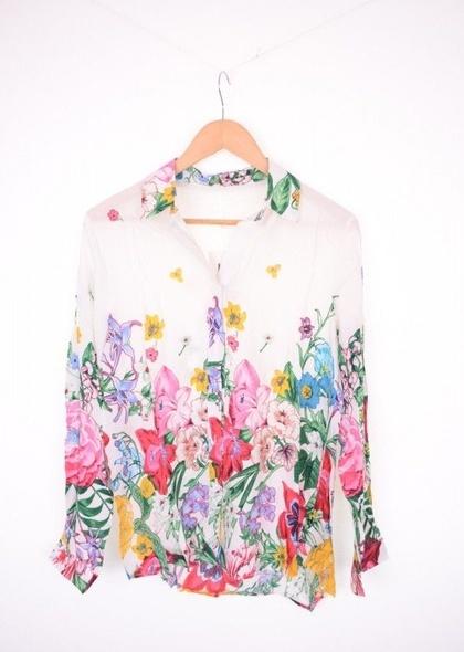 Camasa din vascoza, cu imprimeu floral,cu maneca lunga
