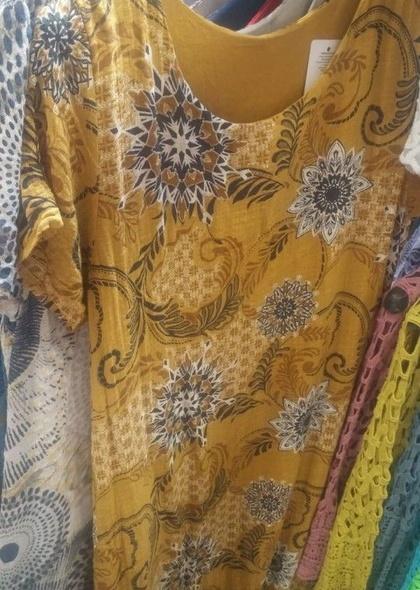 Rochie dublata cu imprimeu colorat