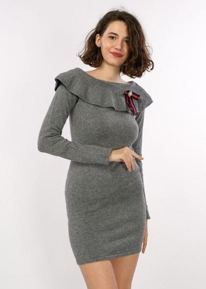 Rochie tricot, detaliu fundita cu perle