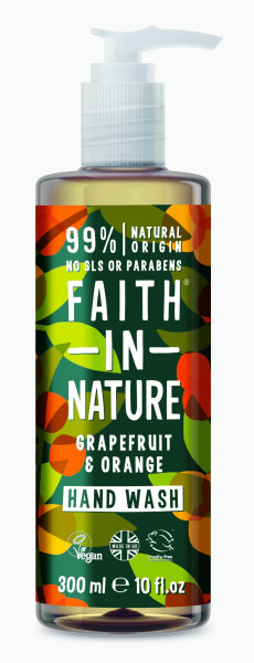 Sapun lichid cu grapefruit si portocale, Faith in Nature, 300 ml