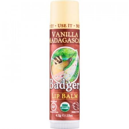 Balsam de buze Badger, Vanilla Madagascar, 4.2