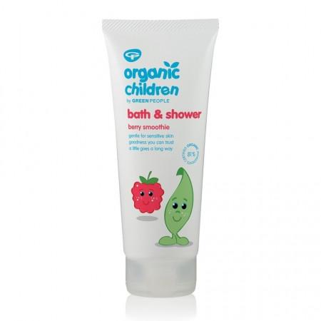 Gel de dus si spuma de baie cu fructe de padure, pt copii, Green People, 200 ml