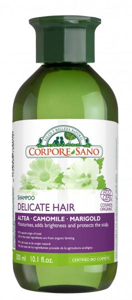 Sampon pentru par fragil si scalp sensibil, cu nalba, musetel si craita, Corpore Sano, 300 ml