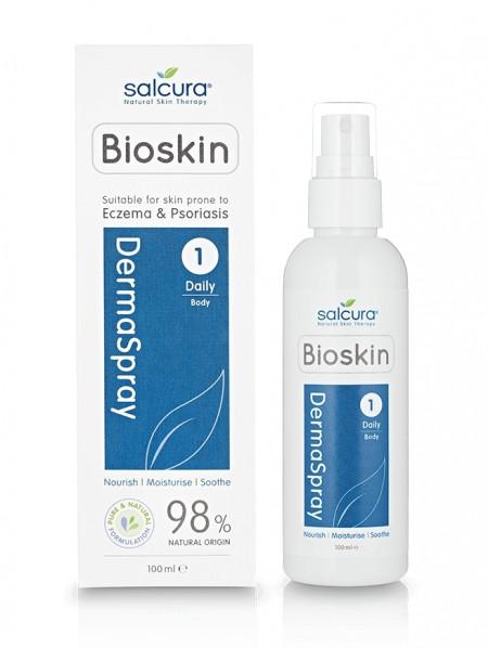 Dermaspray - Spray intensiv hranitor, pt. fata si corp, potrivit pt pielea predispusa la eczeme, psoriazis sau cu mancarimi, Salcura,100 ml