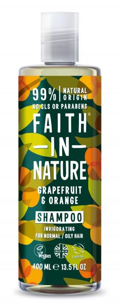 Sampon cu grapefruit si portocale, pt. par normal sau gras, Faith in Nature, 400 ml
