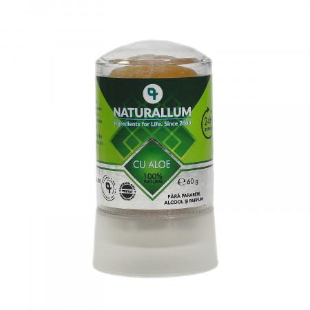 Deodorant piatra de alaun cu Aloe Vera, Naturallum, 60g