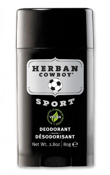 Deodorant solid pt barbati, Sport, Herban Cowboy, 80 g