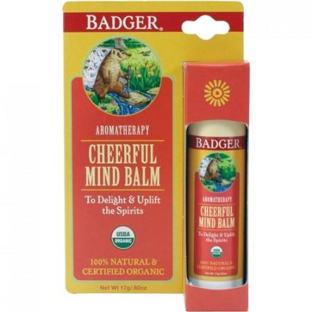 Balsam aromaterapie, Cheerful Mind, Badger, 17 g