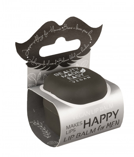 Balsam de buze cu menta si aloe vera pentru barbati, Beauty Made Easy, 6.8 g