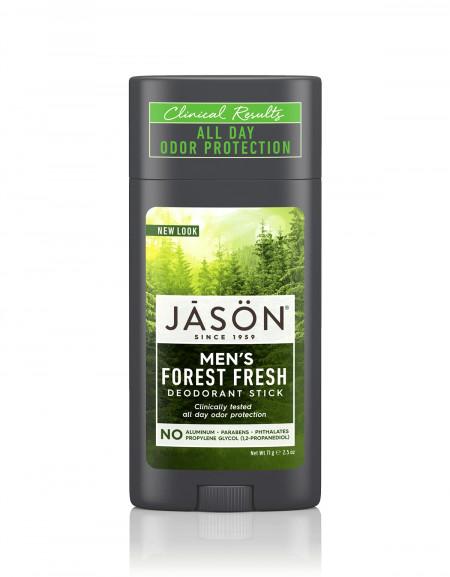 Deodorant natural stick Forest Fresh cu miros proaspat de padure, Jason, pt barbati, 71 g