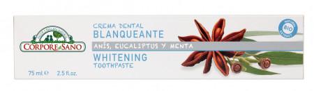 Pasta de dinti cu anason stelat, eucalipt si menta, fara fluor - pt. albirea dintilor, Corpore Sano, 75 ml