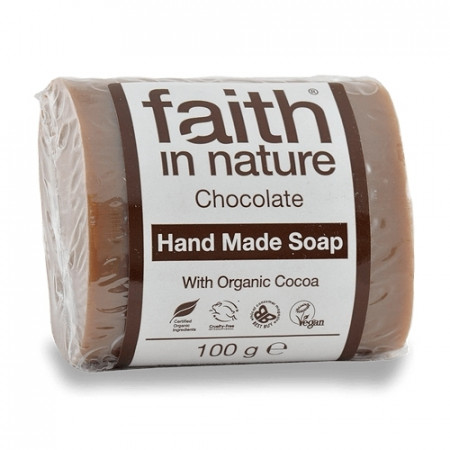 Sapun solid cu ciocolata, Faith in Nature, 100 g