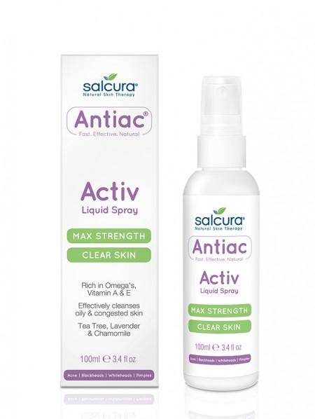 Spray Antiac, fata si corp, pt. curatarea pielii congestionate cu acnee, Omega, vitamina A, E, Salcura 100 ml