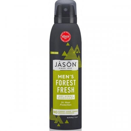 Deodorant spray pt. barbati, protectie 24h, Forest Fresh, Jason, 90 g