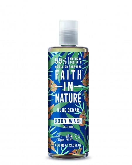 Gel de dus cu cedru albastru, pentru barbati, Faith in Nature, 400 ml