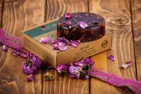 Sapun solid cu trandafiri si glicerina, Biorose, 90 g