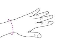 Orteză de încheietura mâinii mână fixă, TRIACARP JUNIOR - cod SRT222