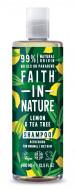 Sampon cu lamaie si tea tree, pt. toate tipurile de par, Faith in Nature, 400 ml