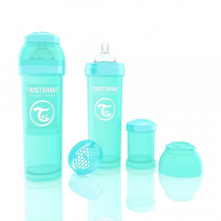 Biberon Twistshake Anti - Colici 330 ml Turcoaz