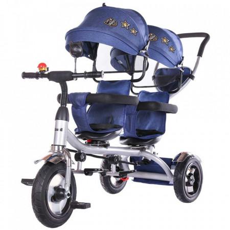 Tricicleta gemeni Chipolino 2Play navy