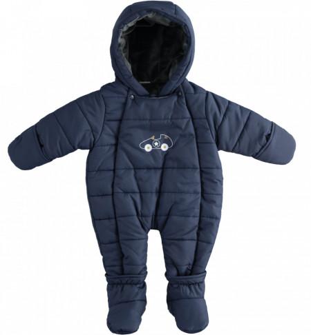 Combinezon exterior pentru bebe baiat nou nascut IDO bleumaren