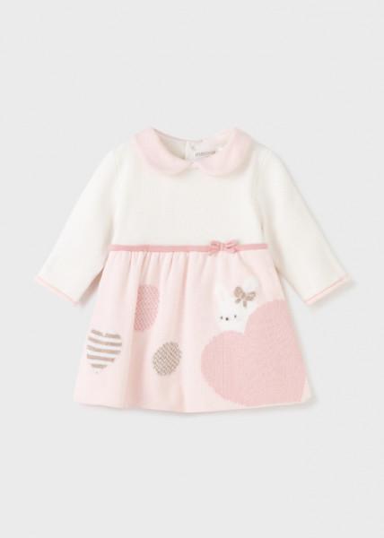 Rochie ECOFRIENDS roz tricotată, pentru nou-născut fată, Mayoral