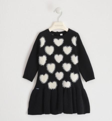 Rochie tricotata Ido cu inimioare