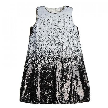 Rochie pentru fete si adolescente din paiete albe si negre GUESS
