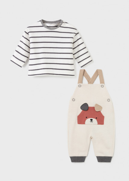 Set salopetă și tricou ECOFRIENDS pentru nou-născut băiat, Mayoral