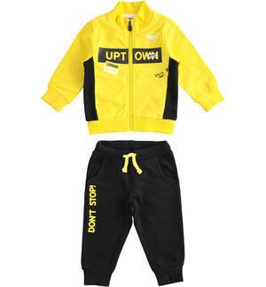 Trening băieți cu hanorac galben, iDO