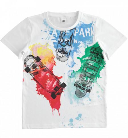 Tricou copii cu pete multicolore,Ido