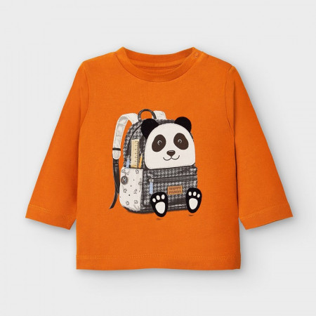 Bluză de băiat din bumbac cu ursuleț, Mayoral