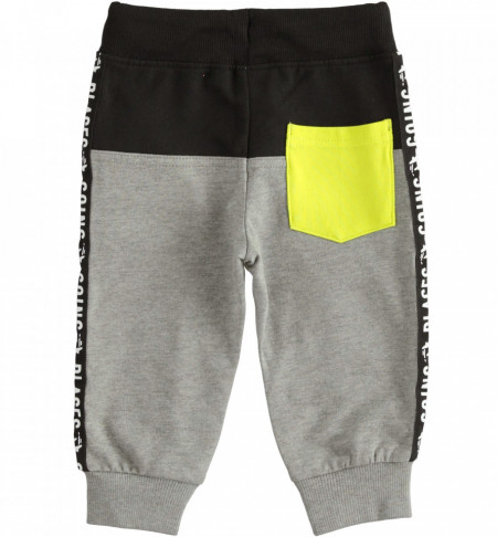 Pantalon de trening IDO din bumbac gri, pentru baiat