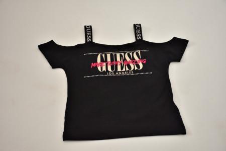 Tricou Guess negru cu bretele