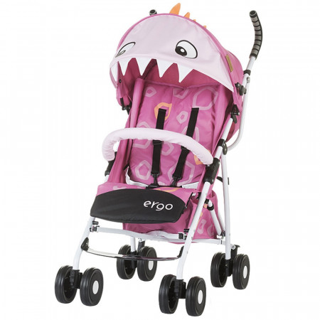 Carucior sport Chipolino Ergo pink baby dragon