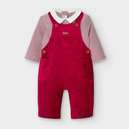 Costum cu salopetă, nou născut băiat, Mayoral