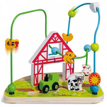 Jucarie Eichhorn Bead Maze Farm
