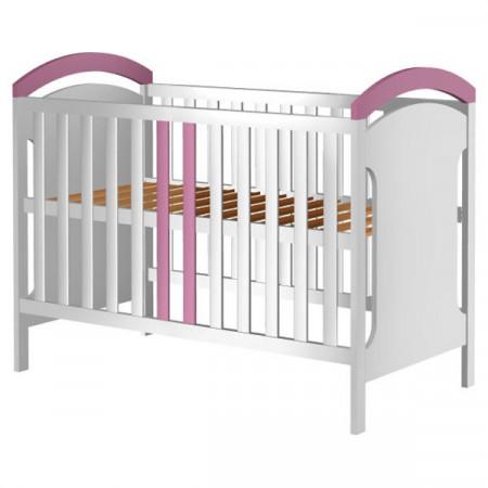 Patut copii din lemn Hubners Hansell 120x60 cm alb-roz