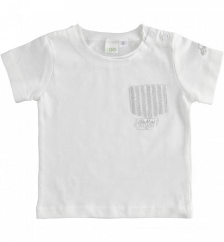 Tricou bebe nou nascut baiat cu buzunar