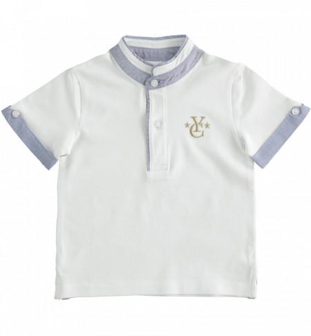 Tricou tunica baieti, alb