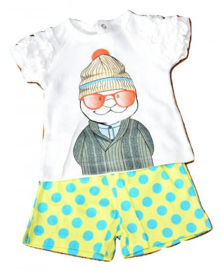 Costum bebe fata, bumbac, vara